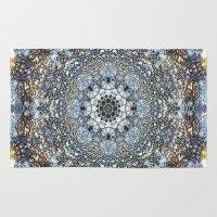 kaleidoscope Area & Throw Rugs featuring Kaleidoscope by Tina Sieben