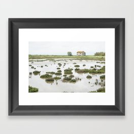 A house on its own, Italy Framed Art Print