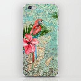 Tropical Map iPhone Skin