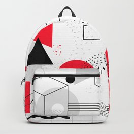Constructivism Red Geometric Lines Backpack
