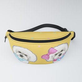 Bichon Frise Holidays yellow cute dogs, Christmas gift, holiday gift, birthday gift, dog, Bijon Fanny Pack
