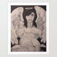 Sitting Angel Art Print