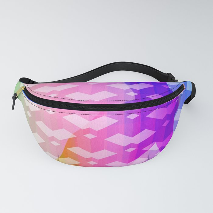 cat kitty playing paw rainbow Fanny Pack