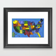 U.S.A. Framed Art Print