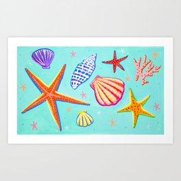 Sea Shells and Sea Stars Art Print