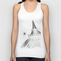 eiffel Tank Tops featuring Eiffel by Envibe Photography