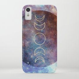 Moon Phases Rose Gold Mandala iPhone Case
