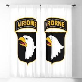 101st Airborne Division Military Veteran Blackout Curtain