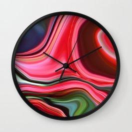 Chrysanthemum Abstract Wall Clock