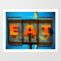 eat Art Prints featuring Eat by Squint Photography