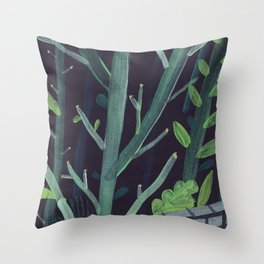 Forest Wall Throw Pillow