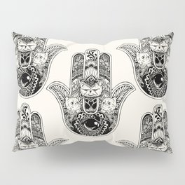 Hamsa Hand Persian Cat Pillow Sham