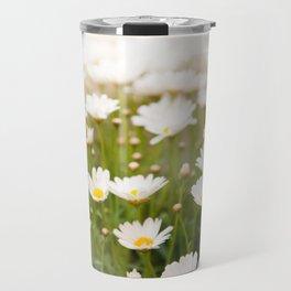 White herb camomiles clump Travel Mug