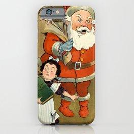 1901 Puck Magazine Christmas issue Santa children iPhone Case