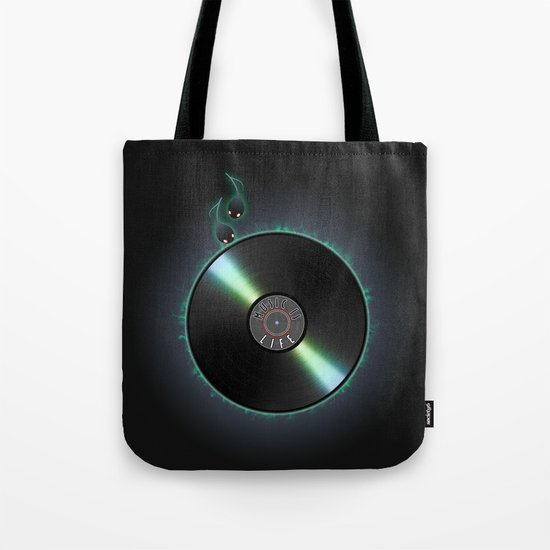 music is... life Tote Bag