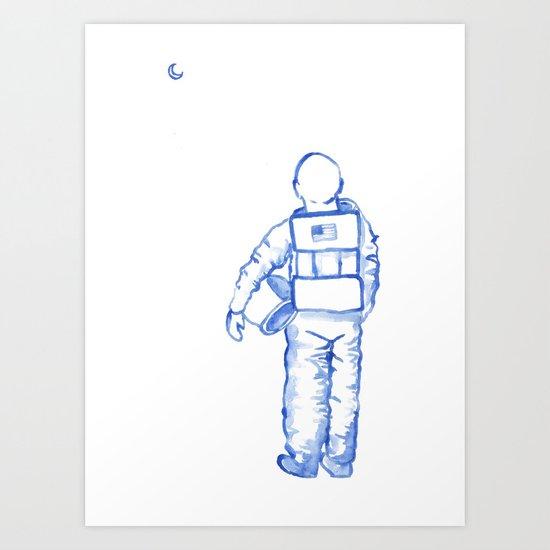 Astronaut Mark Kelley Art Print