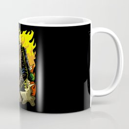 Firefighter Illustration | Fire Brigade Hero Flame Coffee Mug