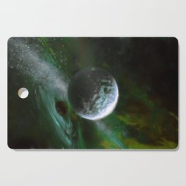 Planet and Black Hole Cutting Board