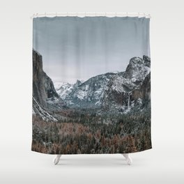 Snow at Yosemite's Tunnel View Shower Curtain