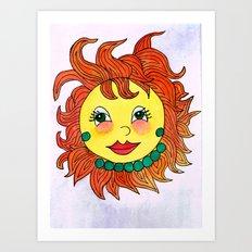 Diva Fantasy Sun Art Print