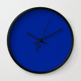 Imperial Blue - solid color Wall Clock