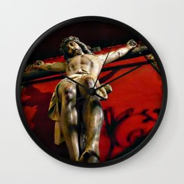 Jesus hanging on the cross Wall Clock