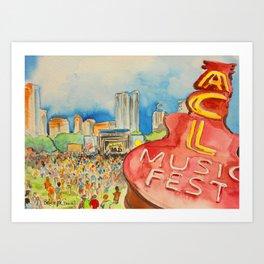 ACL Festival Art Print
