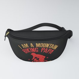 I Am A Mountain Biking Papa Funny Gift for Cyclist Raglan Baseball Tee Fanny Pack