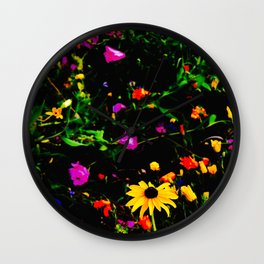PsychoActive Flowers Wall Clock