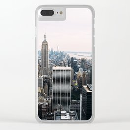 New York skyline from Top of the Rock Clear iPhone Case