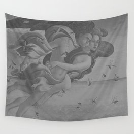 Black White Angels Wall Tapestry