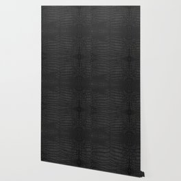 Black Crocodile Leather Print Wallpaper