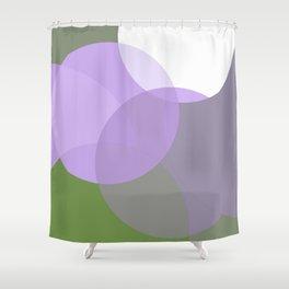 Genderqueer Pride Simple Transparent Layered Circles Shower Curtain