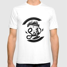 Here Comes The Son SMALL White Mens Fitted Tee