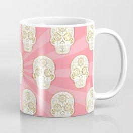 Día de Muertos Calavera • Mexican Sugar Skull – Blue & Rose Gold Coffee Mug
