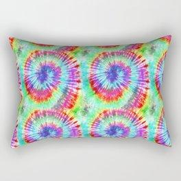 Summer Vibes Tie Dye in Rainbow Swirl Rectangular Pillow