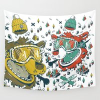 evil Wall Tapestries featuring EVIL by DON'T NEED NO SAMURAI