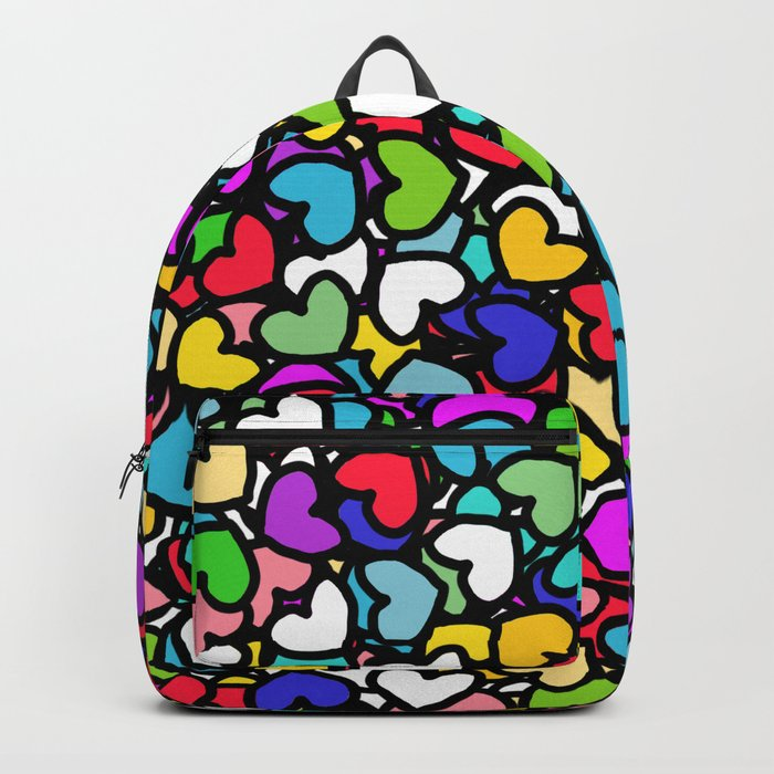 Rainbow LOVE Hearts Backpack