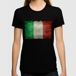 Flag of Italy, worn grungy style T-shirt