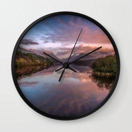 Snowdon Sunset Wall Clock