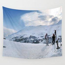 Ski Resort Mountain Landscape Wall Tapestry