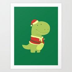 SanT-Rex Art Print