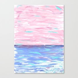 Pink Sky Delight Canvas Print