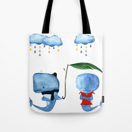 Adorable Whales - PAINTED Tote Bag