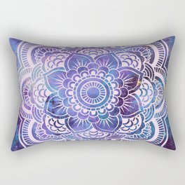 Galaxy Mandala Purple Lavender Blue Rectangular Pillow