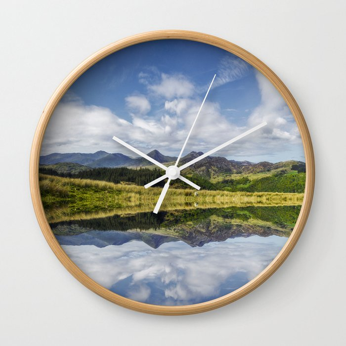 Morning Lakeside Wall Clock