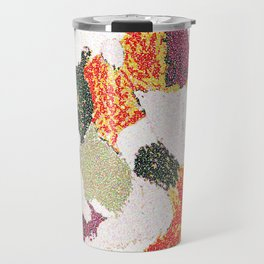 Abstract floral camouflage Travel Mug