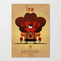 leo Canvas Prints featuring LEO by Angelo Cerantola