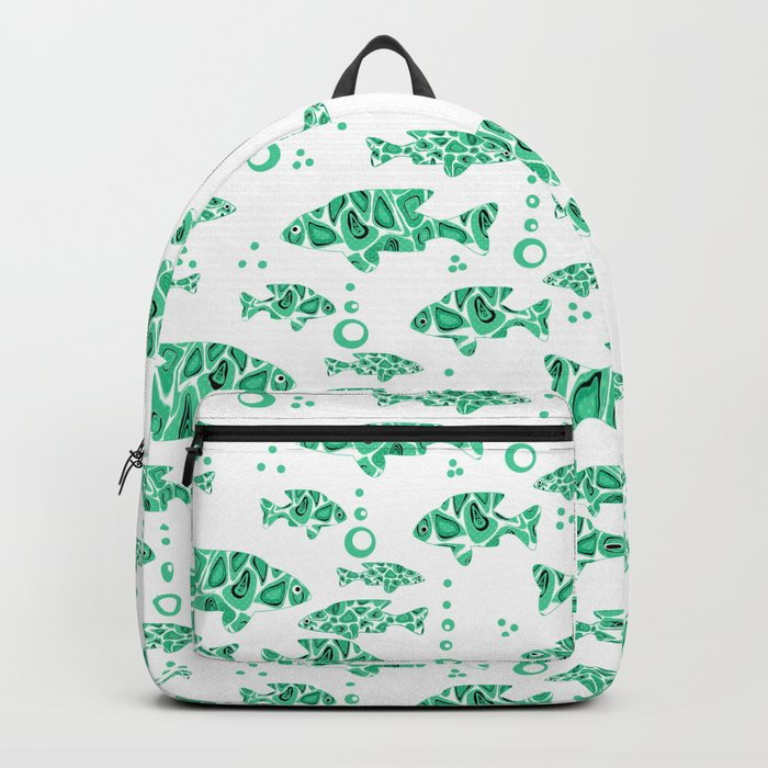 The green fish . Backpack