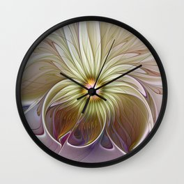 Fantasy Flower, Abstract Fractal Art Wall Clock